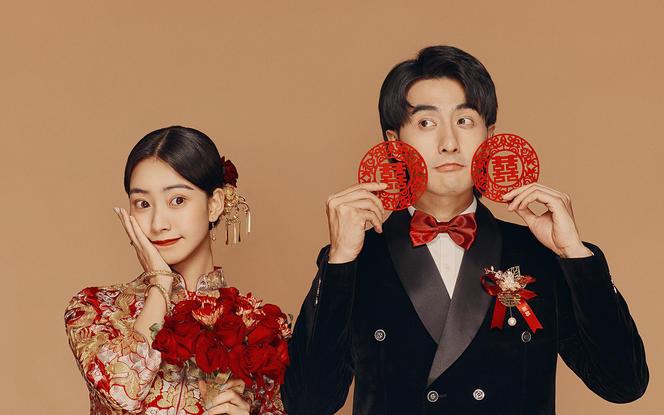 【潮婚节爆款】新中式婚纱照|定制拍摄|接驾到店