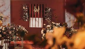 【玖亿婚礼】小预算含四大 复古红质感爆棚婚礼