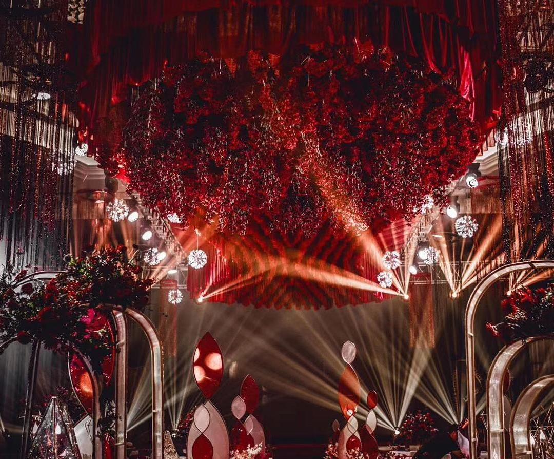 红色梦幻婚礼 效果超级好超级大气