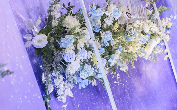 【蓝银】简约风大理石室内婚礼定制
