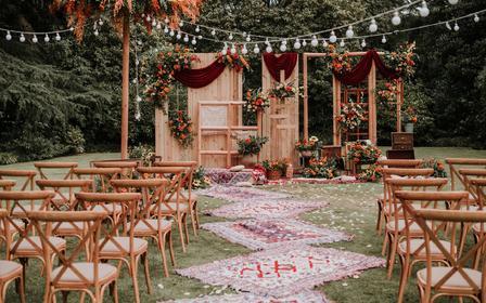 【农家婚礼特辑】四大人员+椅子+音响+喷绘大照片