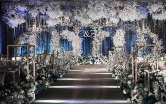 【梦梵婚礼】6折灰蓝色梦幻婚礼包含四大金刚