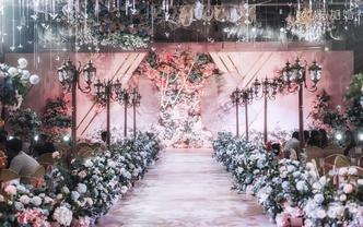 如童话般梦幻的粉色婚礼