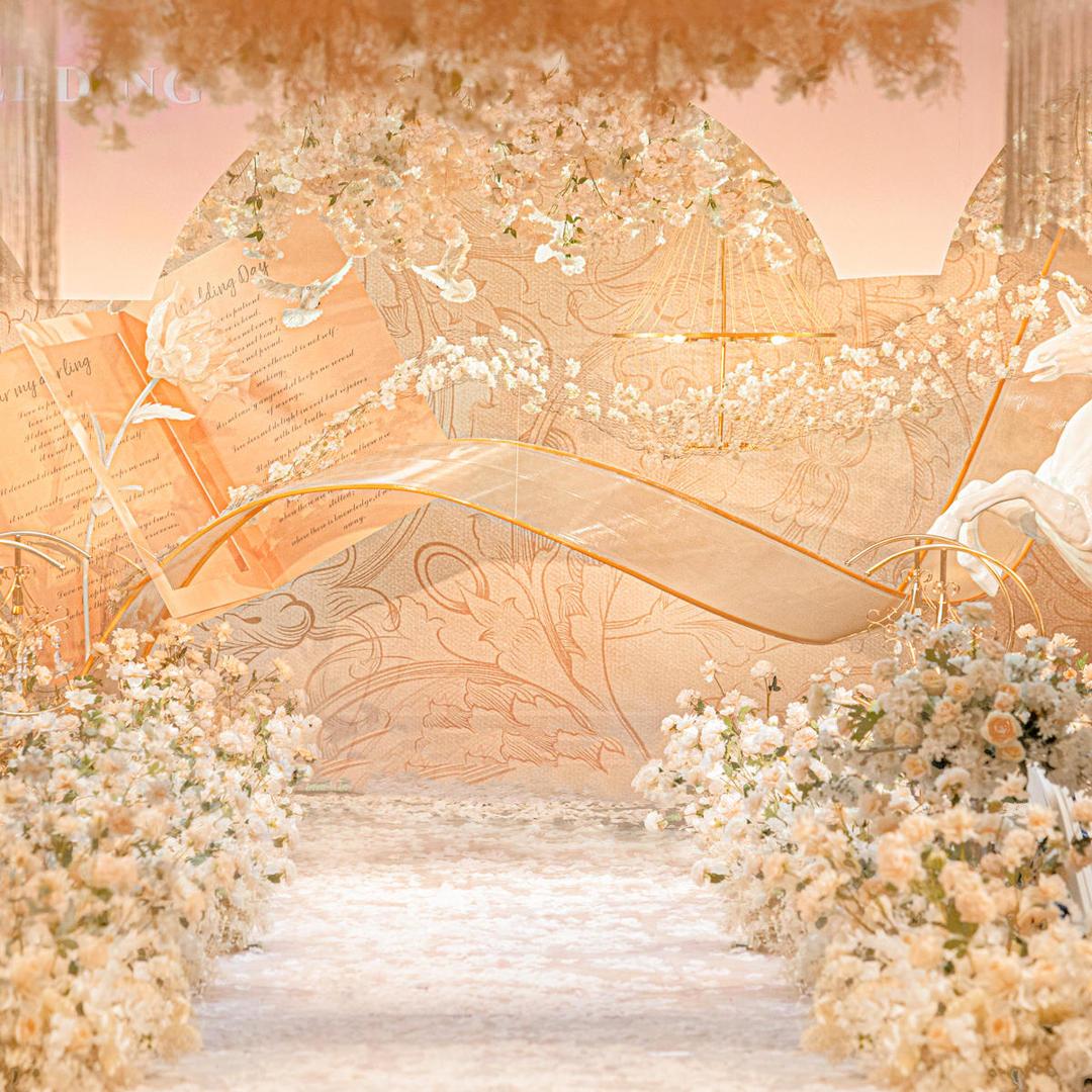 香槟玫瑰金主题婚礼《玫瑰与骑士》包含四大金刚