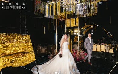 The girl——超酷设计感十足黑金婚礼