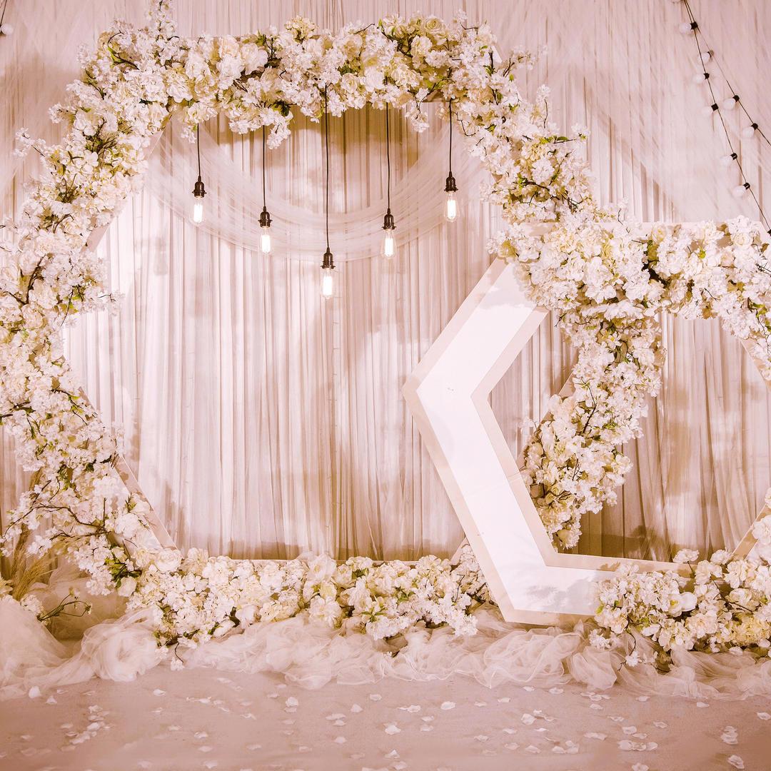 【南昌初心婚礼】浪漫大气六边形香槟色婚礼简约