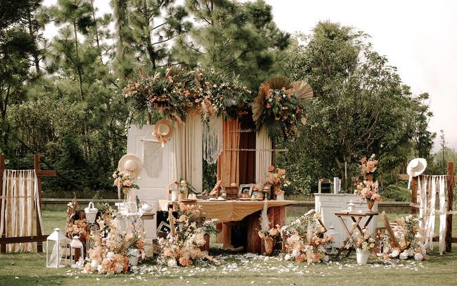 麦瑞婚礼 | 温馨田园风户外婚礼