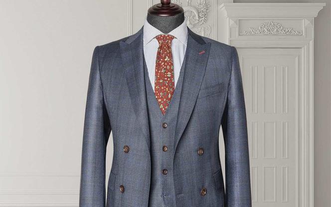 【里绅】国产纯羊毛男士定制结婚礼服完美组合九件套