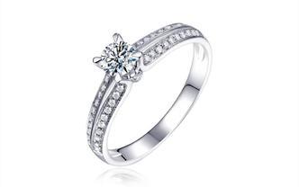 钻石海洋—星轨—50分四爪浪漫求婚结婚钻戒