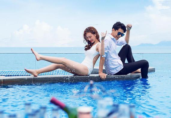 3天2晚酒店+五星酒店教堂泳池+夜景微电影拍摄