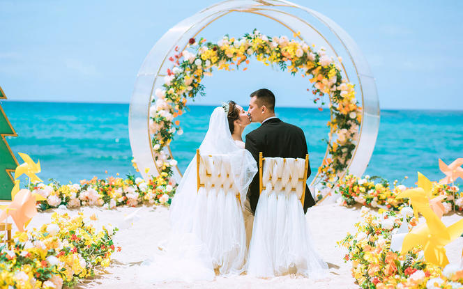 【薇婚礼】两人的浪漫海岛婚礼
