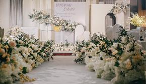 晟世莫兰迪泰式白色婚礼策划