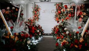 东方红白的简约搭配婚礼|含四大金刚