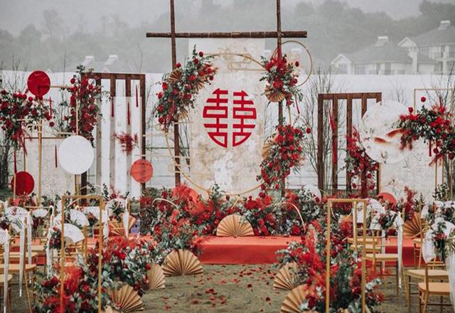 户外中式婚礼   超高性价比