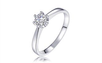 钻石海洋—牵手—50分六爪求婚结婚钻戒