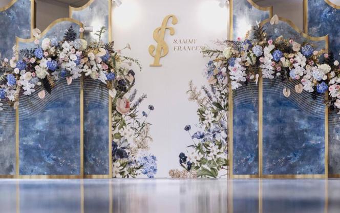 【NI婚礼案例】蓝色系油画遇上婚礼