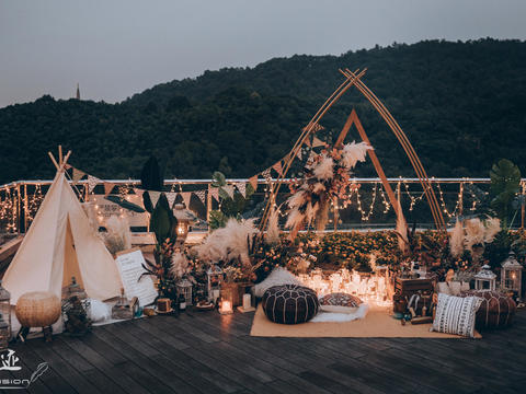 【喜尔婚礼】私密小型顶楼露台 尽观宝石山保俶塔