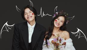 新韩式【我的女孩】漫画系列 浪漫而甜美的婚纱照