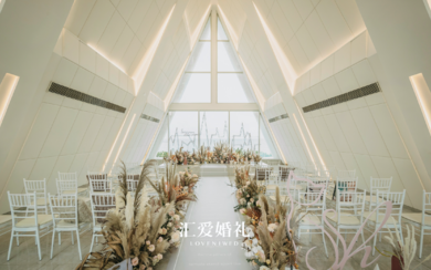 浪漫海岛教堂婚礼 | 怦然心动