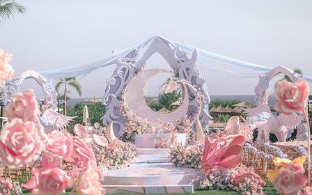 【诺丁山婚礼企划】户外创意唯美卡通婚礼·月与潮汐
