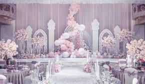 【中秋国庆·含四大人员】粉色告白气球主题婚礼