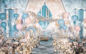 【鲜花布置】+【花车布置】梦幻蓝色系婚礼