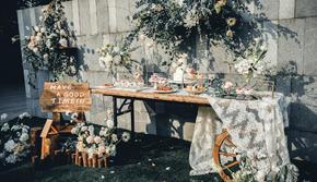 叶子间的时光-小型户外森系婚礼布置
