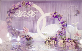 性价比唯美浪漫紫色婚礼~