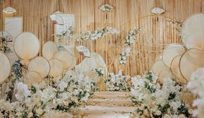 橙果婚礼——在水一方/香槟色/金色/中式