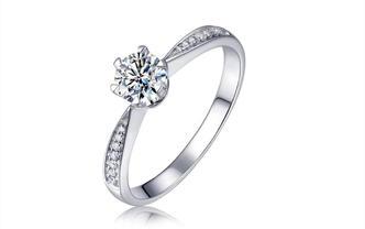 钻石海洋—皇冠Ⅱ—50分六爪皇冠求婚结婚钻戒