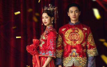 刺绣披肩五分袖显瘦传统中式女士秀禾