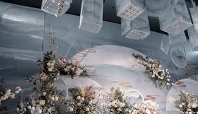 【花沐婚礼】蓝色新中式主题!复古个性撞色系