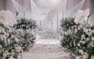 梵佐恩案例  白绿色婚礼