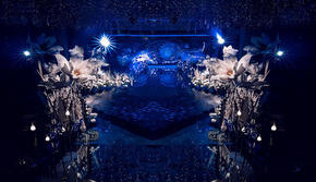 WE婚礼定制-蓝色星空 送司仪 跟妆 摄像