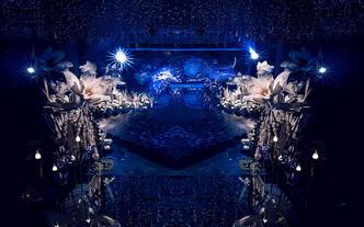 梦幻星空蓝色婚礼 包四大