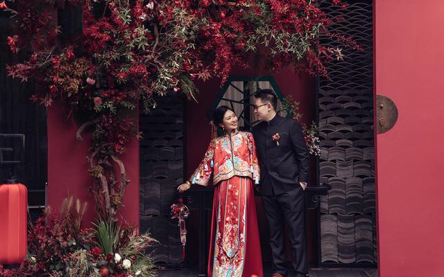 「花酿」茧迹原创手工刺绣中式婚礼主服