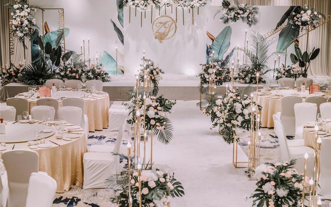 【弗洛狄亚婚礼定制】白色绿色性价比婚礼
