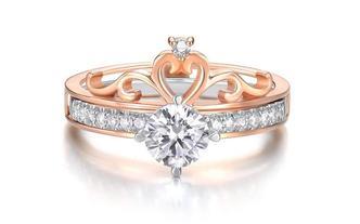 一款三戴50分钻戒丨适合求婚戒指