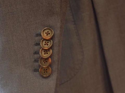 休闲/商务/婚礼/正式场合 复古中度灰西装5件套