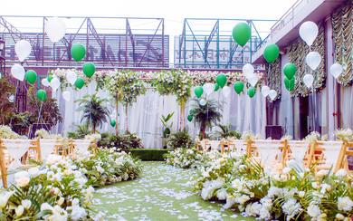 【三亚在四月海岛婚礼】白绿色小清新婚礼系列