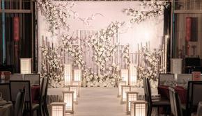 香槟白新中式婚礼  白玉霓裳