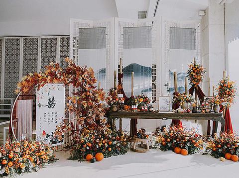 适合秋季的小清新中式婚礼