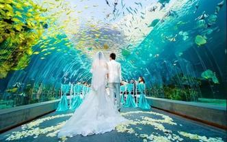 海边婚礼+婚纱+星级酒店+蜜月一站式旅行婚礼