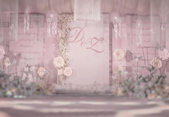粉色系浪漫婚礼|少女感爆棚的粉色婚礼