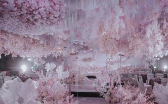超火大气唯美少女粉色系婚礼