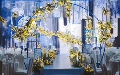 蓝色新中式婚礼