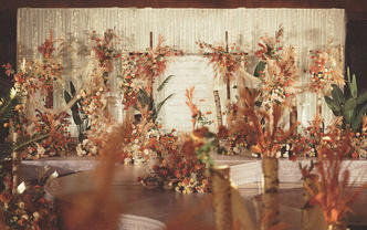 奢华复古室内定制婚礼-轻奢唯美系-【琥珀秋色】