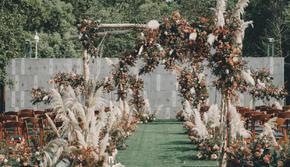 西式户外草坪婚礼--秋意浓