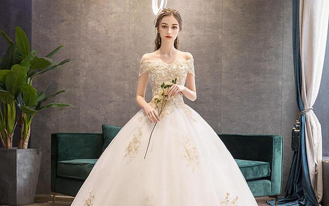 婚纱2019新款新娘齐地