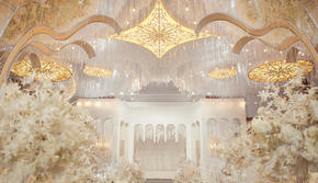 【蓝戒指婚庆】--奢华香槟+城堡主题+鲜花花艺